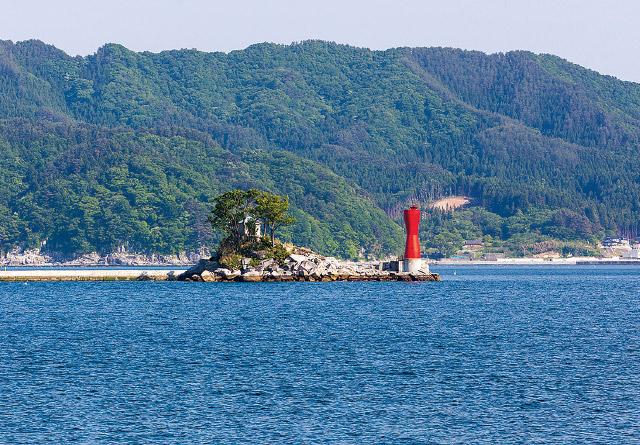 NHK人形劇「ひょっこりひょうたん島」モデル蓬莱島 海の道